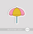 beach parasol icon summer vacation vector image