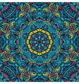 blue Ethnic geometric mandala print Colorful vector image vector image