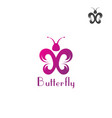 butterfly logo template on a white background vector image vector image