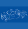 car suv drawing outline rendering vector image vector image