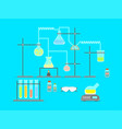 cartoon chemical laboratory vector image