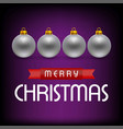 christmas cars with balls vector image vector image