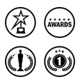 cinema award icons black vector image vector image