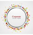 Circle design with shiny light vector image vector image