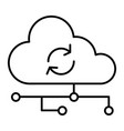 cloud synchronization thin line icon network vector image vector image