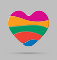 color heart element romance valentine day concept vector image vector image