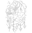 coloring page for adult kids coloring book vector image vector image