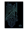computer chip poster design vector image