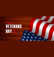 creative poster or banner happy veterans day vector image vector image