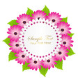 cute congratulation postcard with dahlia flower vector image vector image