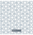 cute line flower pattern background vector image vector image