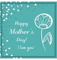 Dandelion Mothers Day Blue vector image