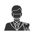 dentist glyph icon vector image