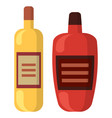drink in bottle alcohol beverage party vector image vector image