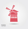 famous landmark moulin rouge paris france vector image vector image