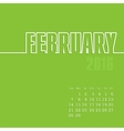 February 2016 year calendar vector image