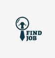 find job logo vector image