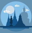 flat design landscape thailand temple vector image vector image
