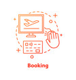 flight tickets online booking concept icon vector image vector image