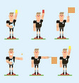 football referee character vector image vector image