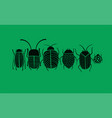 funny beetles collection for your design vector image vector image