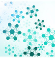 futuristic abstract dna vector image vector image