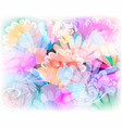 glowing colorful floral seamless pattern vector image vector image