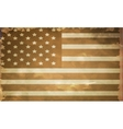 grunge flag of USA vector image vector image