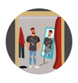 guy hipster in the store vector image vector image