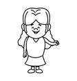 happy little girl character standing infantile vector image