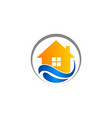 house water protection logo vector image vector image