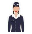 isolated female flight attendant avatar vector image