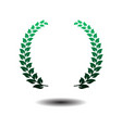 laurel wreath icon isolated on white background vector image vector image
