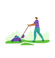 lawn care and gardening service vector image vector image