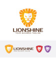 lion shine logo vector image