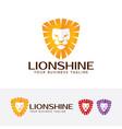 lion shine logo vector image vector image