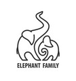 logo template of elephant vector image vector image