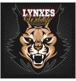 Lynx mascot logo Head of lynxes vector image vector image