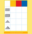 matching game with dienes blocks vector image vector image