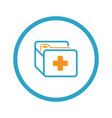 medical records icon flat design vector image vector image