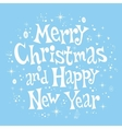 Merry Christmas and Happy New Year lettering retro vector image vector image