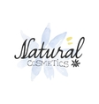 Natural Cosmetics Beauty Promo Sign vector image vector image