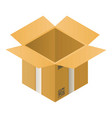 open carton box icon isometric style vector image vector image