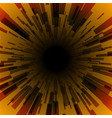 orange burst ray black hole dark stripe vector image vector image