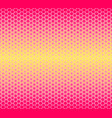 pattern halftone geometric seamless hexagon vector image