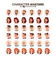 people avatar set man woman user vector image vector image