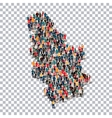 people map country Serbia vector image vector image