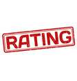 rating sign or stamp vector image