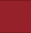 red realistic knit texture seamless pattern vector image