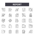 report line icons signs set linear vector image vector image
